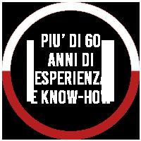 PIU' DI 60 ANNI DI ESPERIENZA E KNOW-HOW