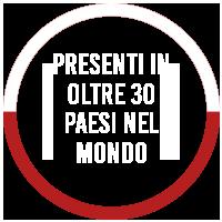 PRESENTI IN OLTRE 30 PAESI NEL MONDO