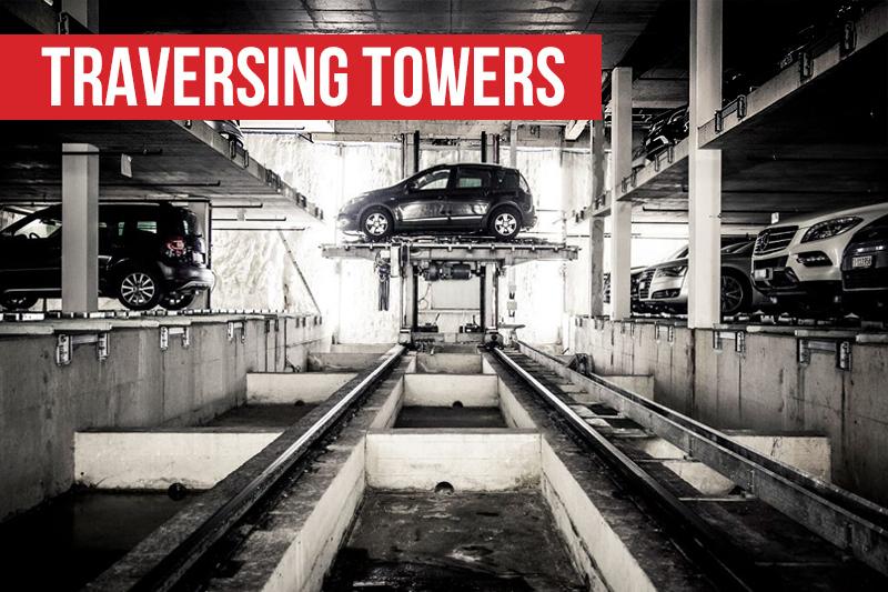 Traversing towers